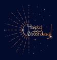 golden fireworks happy birthday vector image