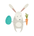 Greeting card Easter rabbit vector image