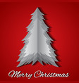 greeting card with origami christmas tree and vector image