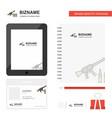 guns business logo tab app diary pvc employee vector image vector image