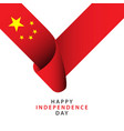 happy china independence day template design vector image vector image