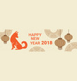 happy chinese new year 2018 horizontal bannner vector image vector image