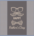 happy father s day vintage card cute poster with vector image vector image