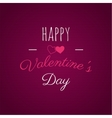 Happy Valentines day lettering photo vector image vector image