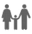 hexagon halftone family child icon vector image vector image