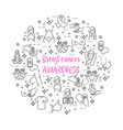 icons set of breast cancer awareness vector image vector image