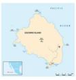 map mexican pacific island socorro vector image vector image