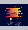 marketing statistics line icon web analytics vector image