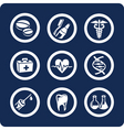 medicine and health icons vector image vector image