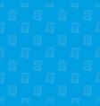 memory portrait pattern seamless blue vector image