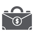 money suitcase glyph icon bag and business case vector image vector image