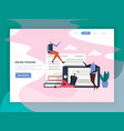 online training flat landing page vector image vector image