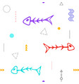 pattern fish skeleton seamless vector image