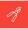 Pruner line icon vector image