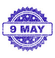 scratched 9 may stamp seal vector image vector image