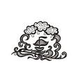 sea and ship vector image vector image