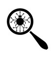 search virus icon vector image vector image