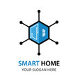 smart house logo design template vector image