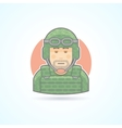 Soldier military man icon Avatar and person vector image vector image