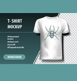 spider t-shirt template fully editable vector image vector image