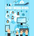 Sport media news outline icons