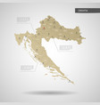 stylized croatia map vector image
