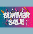 summer sale banner design concept with confetti vector image vector image