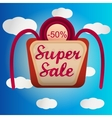 Super sale lable vector image