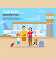 traveling family on vacation vector image