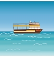 Water transport travel ship across sea river vector image vector image