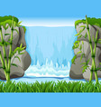 waterfall landscape background vector image