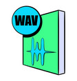 wav file icon cartoon vector image vector image
