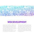 web development line design template vector image