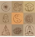 yoga set vector image vector image