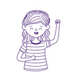 young woman waving hand character cartoon isolated vector image vector image