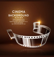 movie poster with film 35mm roll vintage vector image