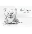 cute cartoon kitty vector image