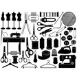 tailoring equipment vector image