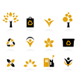 ecology nature and environment icons set vector image