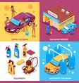 car wash isometric design concept vector image