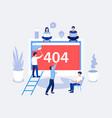 404 error page design concept vector image