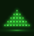 Abstract glowing christmas tree on black vector image vector image
