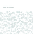 abstract gray bush leaves textile horizontal frame vector image vector image