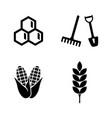 agriculture farming simple related icons vector image