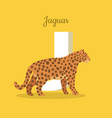 animals alphabet letter - j vector image vector image