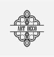 art deco label