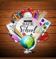 back to school design with colorful pencil eraser vector image vector image