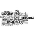 be thankful for a faithful husband text word vector image vector image