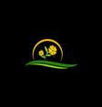 beauty flower tree nature logo vector image
