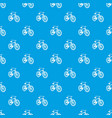 bicycle pattern seamless blue vector image vector image